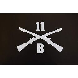 Army Infantry 11 B Sticker Vinyl Decal Crossed Rifles Pick Color & Size! (V618)