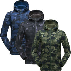 Men Soft Shell Outdoor Tactical Jacket Warm Windproof Sports Camouflage Jacket