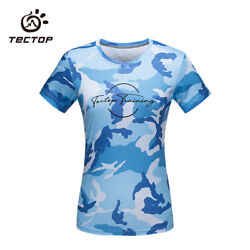 Outdoor Women's Camouflage Casual Breathable Quick-dry Running Sports T-shirt