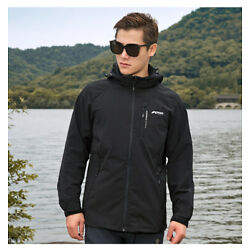 Outdoor Double Mens Jacket Waterproof Wind Softshell Breathable Stretch Jacket