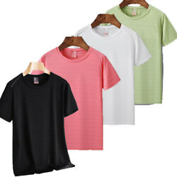 Summer Sport Women T-shirt Hiking T-shirt Breathable Ice Silk Quick Dry Clothing