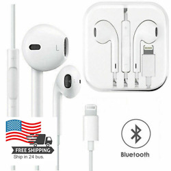 For iPhone 11 12 XR X XS Max 8 7 Plus 6 SE Wired Bluetooth Earphones Headphones