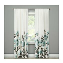 Climbing Floral Light Filtering Curtain Panel - Blue Threshold MULTIPLE SIZES