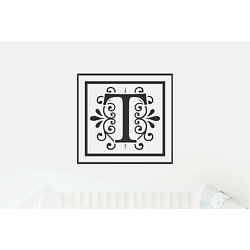 T Monogram Decal - Sticky Vinyl Sign for Wall Decor, Front Door, Entryway, House