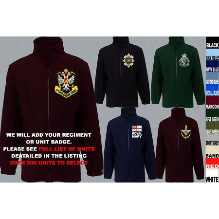 img-UNITS 1 TO A ARMY ROYAL NAVY AIR FORCE MARINES REGIMENT FLEECE JACKET XS TO 5XL