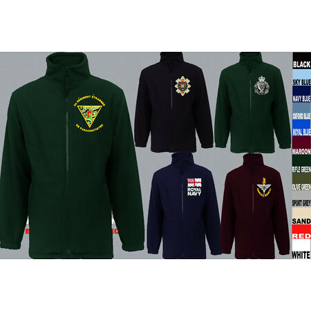 img-UNITS R TO R1 ARMY ROYAL NAVY AIR FORCE MARINES REGIMENT FLEECE JACKET XS TO 5XL