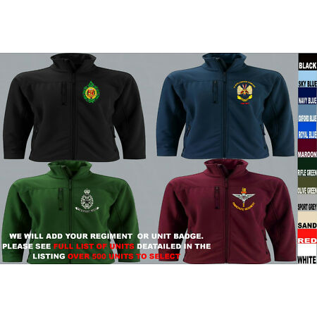 img-UNITS R TO R1 ARMY ROYAL NAVY AIR FORCE MARINES REGIMENT SOFTSHELL JACKET TO 5XL