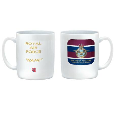 img-ROYAL AIR FORCE CUSTOMISED Ceramic Mug with RAF badge on Tie Colours & Motto