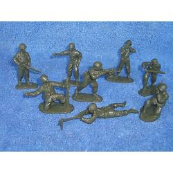 Classic Toy Soldiers U.S. GI's set #2, 16 figures in 8 poses 54mm green plastic