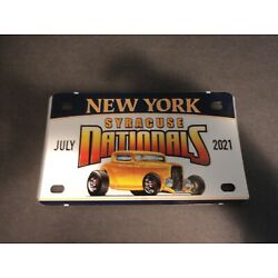 2021 Syracuse Nationals License Plate Car Show Hot Rod Parts Street Rod 7x4