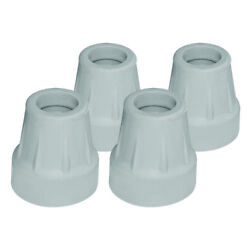 Quad Cane Tips 5/8 Inch Grey Color Set Of 4 Fits All Standard Canes