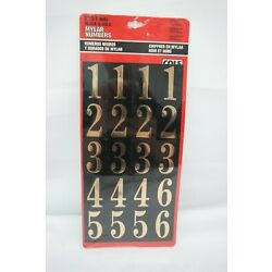Hillman 2'' / 51mm Black & Gold Mylar Numbers Cole TF