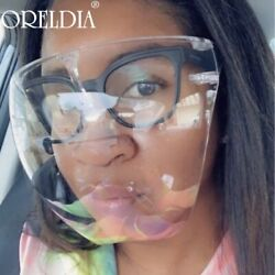 Face Shield PPE Protective Mask Facial Cover Anti-Fog Transparent Clear Glasses