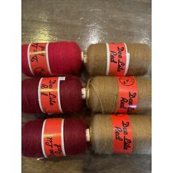 Dee Lite Red lot 1 6 spools punch thread needle