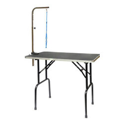 Go Pet Club Pet Dog Grooming Table with Arm, 30-Inch 30''L x 18'' W x 32'' H