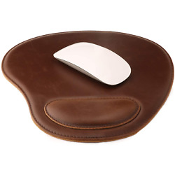 Londo Leather Oval Mousepad with Wrist Rest
