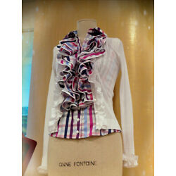 SALE! 30% OFF!  ANNE FONTAINE FRANCE White BLOUSE top shirt SZ 42-44 $500.00
