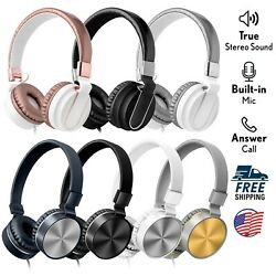 Art+Sound Metallic On-Ear Wired Headphones with Built-In Mic + Foldable Headband