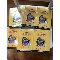 BBC Muzzy multilingual language course French Spanish+ Level 2 DVD Book Part 1-6