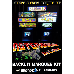 Arcade1up Asteroids Deluxe Backlit Light Up Marquee Kit for Arcade1up Cabinets