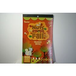 Nuts About Fall Stickers 600ct Autumn Fox Squirrel Leaves Sunflowers Bees Darice