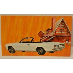 New Old Stock 1966 Chevrolet Corvair Corsa Dealers Promo Post Card  Litho in USA