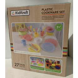 KidKraft 27pc Cookware Set - Pastel - Plates, Cups, Silverware - NEW in The Box