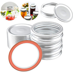 40Pcs Canning Lids and Rings for Regular Mouth Split-Type & Leak Proof 70MM