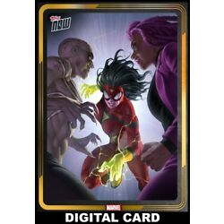 Topps Marvel Collect Spider-Woman #15 GOLD TOPPS NOW SEPTEMBER 15 2021