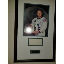 Neil Armstrong NASA Apollo 11 SIGNED CUT FRAMED PSA CERTIFIED LOA