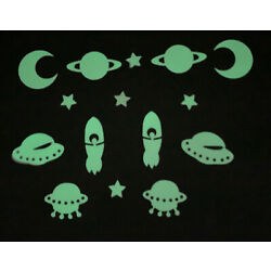 Glow In The Dark Stars and Moon Plastic Stickers Ceilings & Walls Bedroom NEW