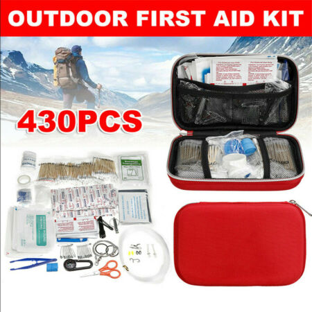 img-430Pcs First Aid Outdoor Emergency SOS Survival Kit Gear Travel Camping