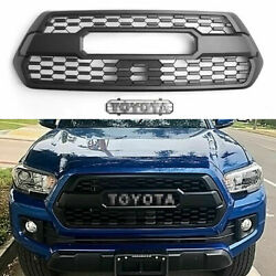Front Grille For Tacoma Grill 2016-2021 Bumper Hood With Letters Black