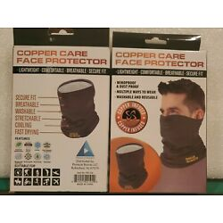 Copper Care Face Protector - Mask - Lightweight Washable  New in Pack 2 for 1