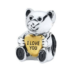 I Love You Heart Charm S925 Silver Bead Gift for Wife Mum Daughter Nan