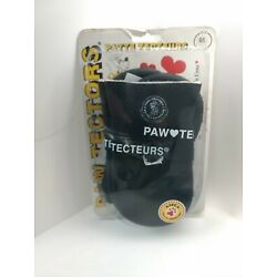 *NEW Pedigree Perfection Paw Tectors Size Large Dog Boots Shoes Protectors Black