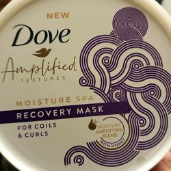 Dove Amplified Textures Moisture Spa Recovery Hair Mask Coils & Curls 10.5oz new