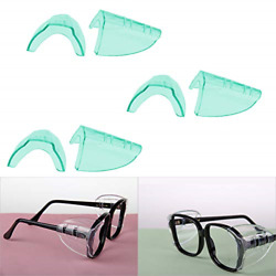Hub�s Gadget 3 Pairs Safety Eye Glasses Side Shields, Slip On Clear Side Shield