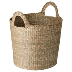 Brand New IKEA INSVEP Basket with handles, Seagrass, 19x19 ¾ '' , 904.767.86