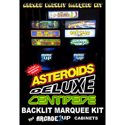 Arcade1up Deluxe (Asteroids/Centipede) Light Up Marquee Kit for Early A1up Cabs