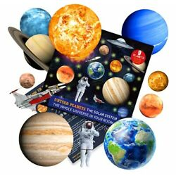 Solar System for Kids Glow in The Dark Planets and Stars for Ceiling, Astronaut