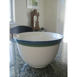 PFALTZGRAFF OCEAN BREEZE ROUND GREAT BOWL - NEW VERY LARGE MIXING BREAD OVER 10''
