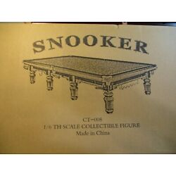 1 6 Toys Power Snooker Table, 2 Headsculpts, Amazing detail.