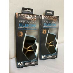 Lot of 2 -Copper Fit Pro Series Elbow Compression Sleeve Size Medium 10.5'' -12''