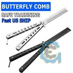 Butterfly Trainer DRAGON Training Dull Tool Black Comb knife Metal Practice