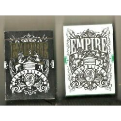 2 Empire Bloodlines Playing Cards Green & Black Edition New, From Kings Crooks