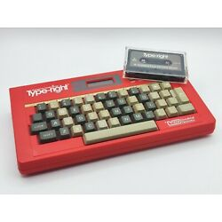 Vintage VTech Type-Right Interactive Learning Typing Keyboard + Cassette Tape