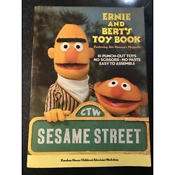 Ernie and Bert Toy Book 1977 Partially Used