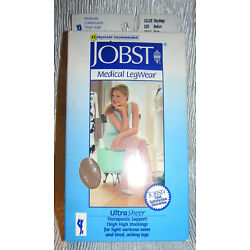 Jobst Medical Ultra Sheer Thigh High lace top compression stockings 15-20 Medium
