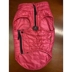Gooby Medium Dog Hot Pink Puffer Down Quilted  Vest Zip With Collar NWT ADORABLE